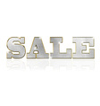 Sale gold text vector image