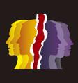 schizophrenia manic depression male heads vector image vector image