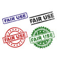 scratched textured fair use stamp seals vector image vector image