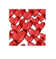 Seamless background with red transparent hearts vector image vector image