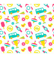 seamless patterns for kids vector image vector image