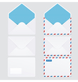 set 6 glossy envelope icons vector image