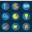 Set informative business icons vector image vector image