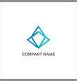 shape geometry triangle company logo vector image vector image