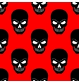 Skull seamless pattern Black vector image