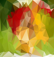 spring green polygonal triangular pattern vector image vector image
