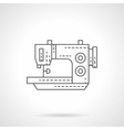 Stitching machine flat thin line icon vector image vector image