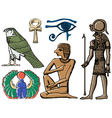 Symbols of ancient Egypt vector image vector image