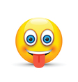 tongue out emoji vector image vector image