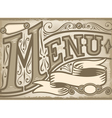 vintage graphic element for menu vector image vector image