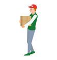 volunteer help box icon flat style vector image vector image