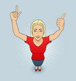 woman gesturing vector image vector image