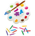 painting set in different colours vector image