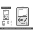 Game console line icon vector image