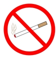 No smoking sign in red ring vector image