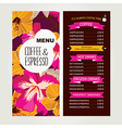 Cafe menu template design vector image
