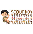 a set of scout boy character vector image