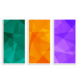 abstract low poly empty banners set