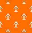 automation machine robot pattern seamless vector image vector image