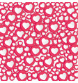 background with hearts signs social network vector image vector image