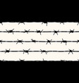barbed wire silhouettes seamless pattern