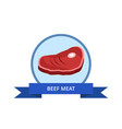 beef meat logo with bacon bone vector image