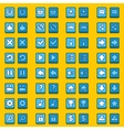 Blue game icons buttons icons interface vector image