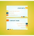 Business card template made in bright clean and vector image vector image