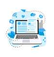 business communication internet blogging post vector image vector image