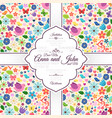 card with spring love seamless pattern vector image vector image