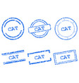 cat stamps vector image