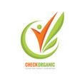 check organic - logo template concept vector image