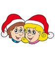 christmas boy and girl vector image