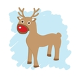 Christmas card with cute reindeer vector image