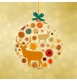 Christmas Deer Pattern Card vector image