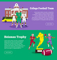 colleage football team heisman memorial trophy vector image vector image
