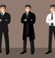 Collection of cartoon businessmen vector image vector image