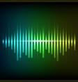 colorful green-blue digital shining equalizer vector image vector image