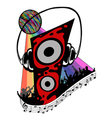 colorful with music elements vector image vector image