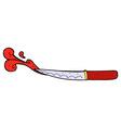 comic cartoon kitchen knife cutting vector image vector image