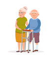 couple cute elderly standing together vector image vector image