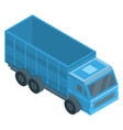 farm truck icon isometric style vector image vector image