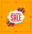 festival sale background with diwali crackers vector image vector image