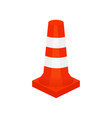 flat icon of red plastic construction and vector image