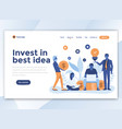 flat modern design of wesite template - invest in vector image vector image