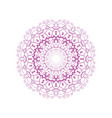 floral round decorative symbol vintage decorative vector image