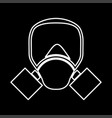 gas mask it is icon vector image