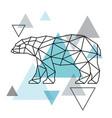 geometrical silhouette of a polar bear vector image vector image