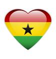 Ghana flag button vector image vector image