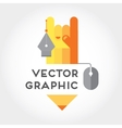 graphic and digital drawing sign or symbol vector image